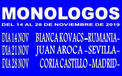 CICLO MONOLOGOS 2019